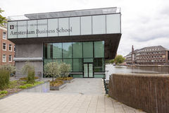 Business school of amsterdam university on roeterseiland in the Stock Photos