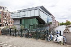Business school of amsterdam university on roeterseiland in the Royalty Free Stock Image