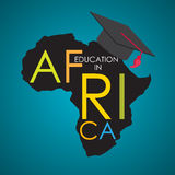 Business School Education in Africa Concept Vector Illustration royalty free illustration