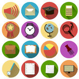 Business and school of icons Stock Photography