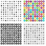 100 business school icons set vector variant. 100 business school icons set vector in 4 variant for any web design isolated on white Stock Photos