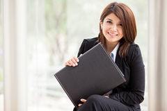 Business school student smiling Stock Photo
