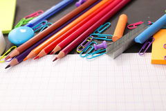 Business or school supplies Royalty Free Stock Images