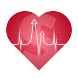 Business and science heart pulse red Royalty Free Stock Photo