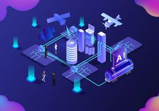 Business science technology vector illustration.  stock illustration