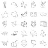 Business scope icons set, outline style. Business scope icons set. Outline set of 25 business scope vector icons for web isolated on white background Royalty Free Stock Image