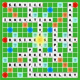 Business scrabble Stock Image