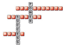 Business scrabble word play Royalty Free Stock Photos