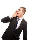 Business scream Royalty Free Stock Image