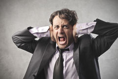 Business Screaming Royalty Free Stock Images