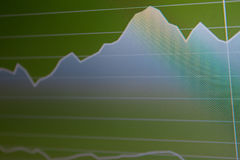 Business screen stock exchange. Data graph background Stock Photo