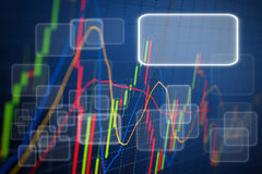 Business screen stock exchange. Data graph background Royalty Free Stock Images