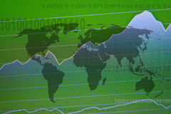 Business screen stock exchange. Data graph background Stock Images