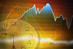 Business screen stock exchange Royalty Free Stock Images