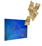 Business screen stock exchange Royalty Free Stock Photography