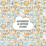 Business seamless pattern Royalty Free Stock Photography
