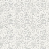 Business seamless pattern. Vector background. Royalty Free Stock Photography