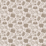 Business seamless pattern. Vector background. Stock Photos