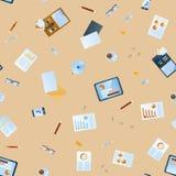 Business seamless pattern Stock Image