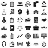 Business search icons set, simple style. Business search icons set. Simple style of 36 business search vector icons for web isolated on white background Royalty Free Stock Photography