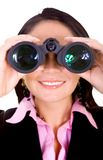 Business search - woman Royalty Free Stock Photography