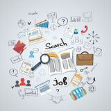 Business Searching Job Newspaper Classified Royalty Free Stock Image