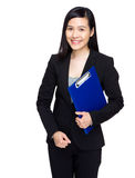 Business secretary with note pad Stock Image