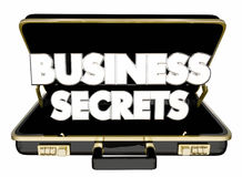 Business Secrets Briefcase Classified Confidential Trade Informa. Tion 3d Illustration Stock Photo