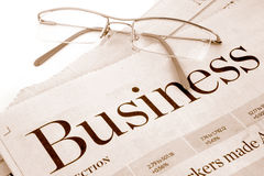 Business section Stock Images