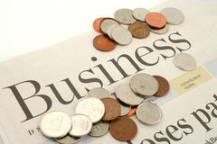 Business section Royalty Free Stock Photography