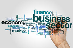 Business sector word cloud. Concept Royalty Free Stock Photos
