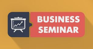 Business Seminar Concept in Flat Design. Stock Images