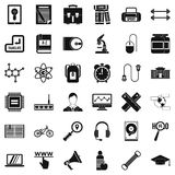 Business seminar icons set, simple style. Business seminar icons set. Simple style of 36 business seminar vector icons for web isolated on white background Stock Photo