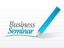Business seminar message illustration design Royalty Free Stock Photo