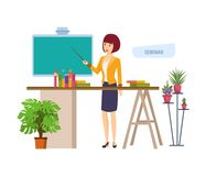 Business seminar in office next to workplace. Corporate training, presentation. Stock Images