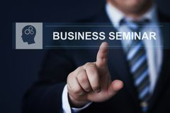 Business Seminar Webinar Corporate Training Education Knowledge Corporate Internet Technology Concept.  royalty free stock image