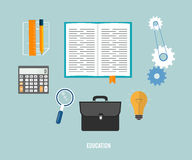 Business, seo and education items icons. Royalty Free Stock Photos