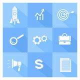 Business, SEO and social media marketing icons Stock Photography