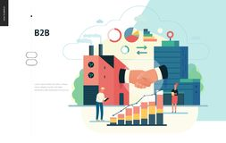Business series - b2b. business to business, web template royalty free illustration