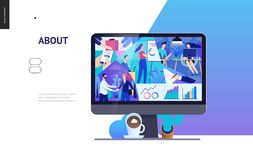 Business series - about company, office life web template vector illustration