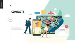 Business series - contacts web template stock illustration