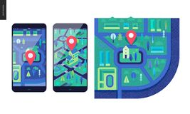 Business series - map stock illustration
