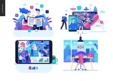 Business series - set royalty free illustration
