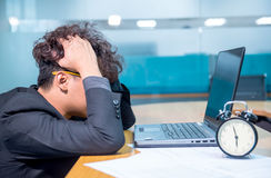 Business serious. Busy and headache person, unsuccessful businessman Royalty Free Stock Photos