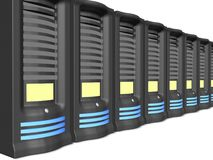 Business servers in a line Royalty Free Stock Photography