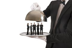 Business service and First Class team. Concept of business service and First Class team Stock Photos