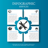 Business Service Infographic. Illustration, Concept Royalty Free Stock Photos