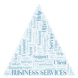 Business Services word cloud stock illustration