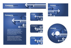 Business Set. Nice Corporate Identity Template Vector Vector Illustration