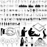 Business set of black sketch. Part 12. Stock Photos